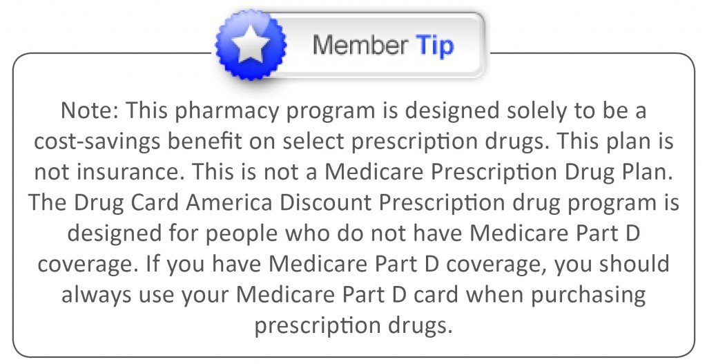 Member tip Drug Card Page