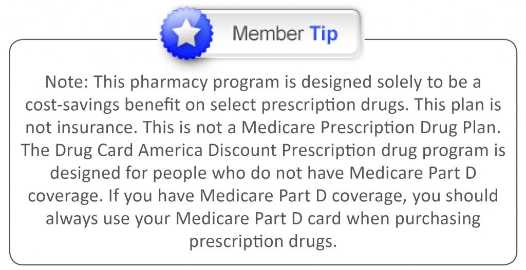 Member tip Drug Card Page